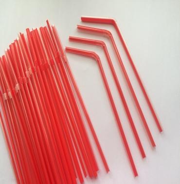 Ống hút cong (đỏ trong)