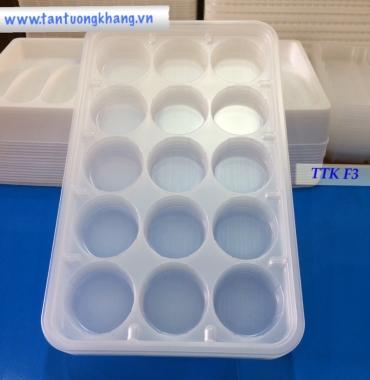 Khay nhựa PP đứng cá viên chiên TTK F3