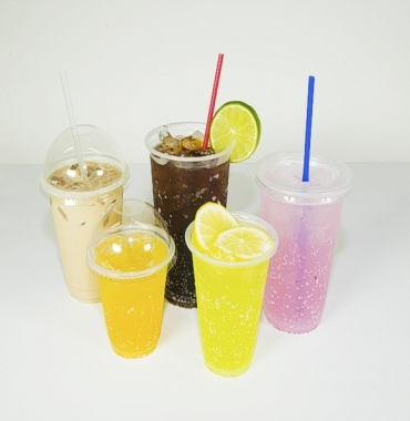 Plastic cup pp (2 types of lids optional)