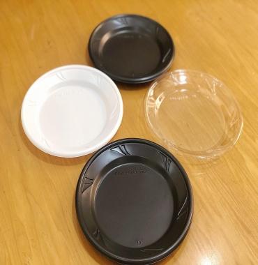 Black plastic plate